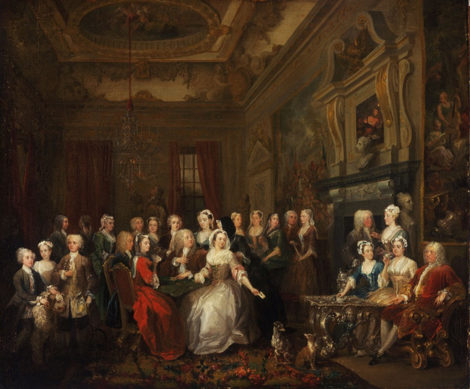 Assembly at Wanstead House, the family and friends of Sir Richard Child, Viscount Castlemaine
