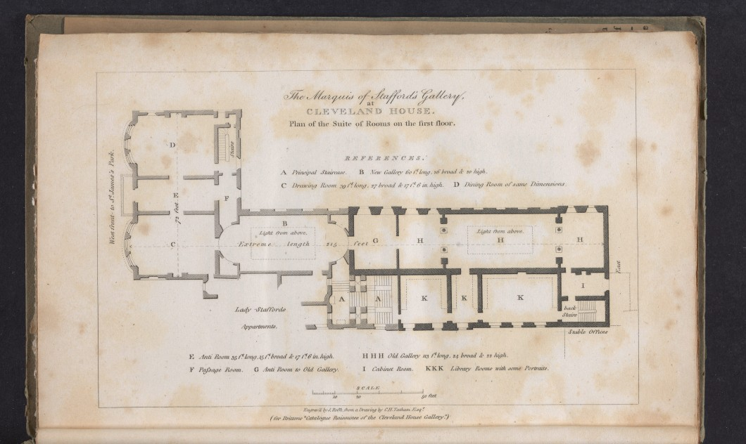 in John Britton, <i>Catalogue Raisonné of the Pictures Belonging to the Most Honourable the Marquis of Stafford, in the Gallery of Cleveland House</i> (London: Longman, Hurst, Rees, and Orme, 1808), 23 cm