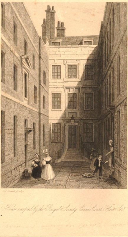 House occupied by the Royal Society Crane Court Fleet Street