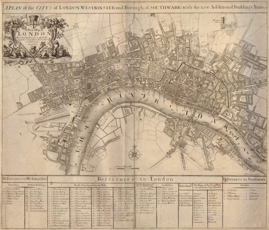 A Plan of the City's of London