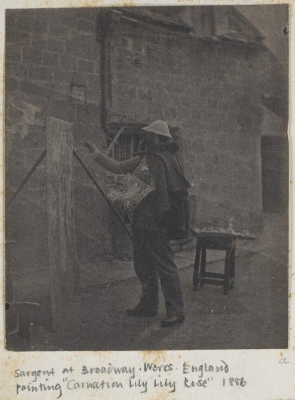 "Photograph of Sargent Painting ""Carnation, Lily, Lily, Rose"" at Broadway in Worcestershire"