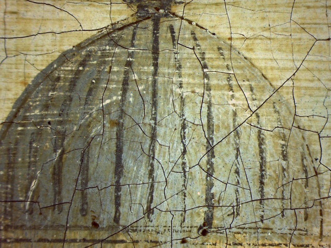 Detail showing compass incision lines on dome of St Paul's Cathedral