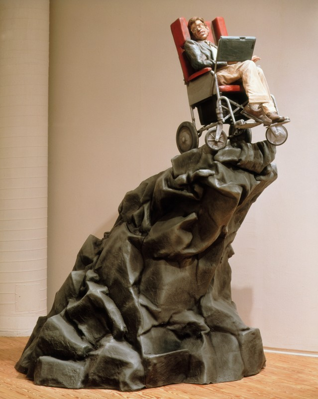 1995, fibre-glass, mixed media, and paint, 144 x 72 x 72 cm