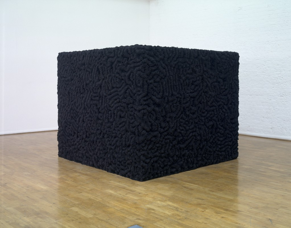 1992–93, wooden structure, steel plates, magnets, and iron filings, 164 x 200 x 200 cm (645/8 x 78¾ x 78¾ in)