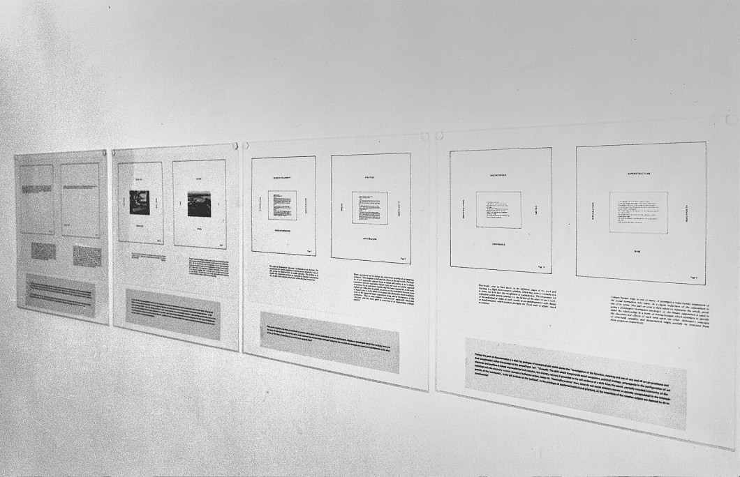 Artists Space, New York 1979, showing Marie Yates, <i>Text Piece</i>, 1977