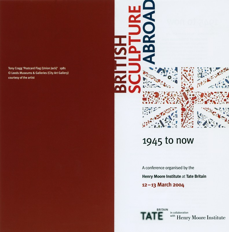 flyer for 'British Sculpture Abroad' conference at Tate Britain, 12–13 March 2004