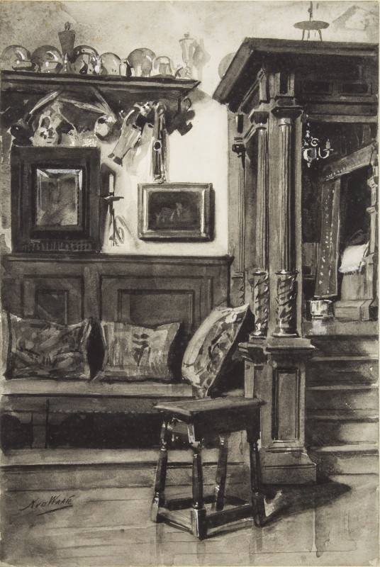 ca. 1890–1891, brush and grey ink, grey wash, heightened with white on paper, 38 x 25.5 cm. Collection of Museum of Friesland, Leeuwarden (PTII-1485).