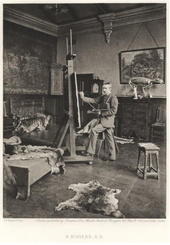 photograph, in F.G. Stephens (ed.), <i>Artists at Home</i> (London: Sampson Low, Marston, Searle, and Rivington,1884), plate 20, photogravure, 1883, 21.6 x 16.4 cm. Collection of National Portrait Gallery (NPG Ax27831).