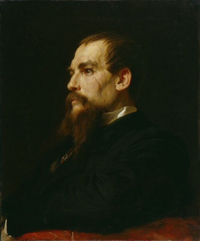 1872–1875, oil on canvas, 61 x 51 cm. Collection of National Portrait Gallery, London (NPG 1070).