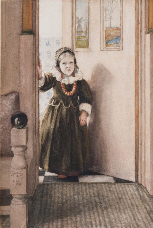 1881, watercolour with pencil, gum arabic, and scratching out on paper, 25.1 x 16.8 cm.  Private collection, England.