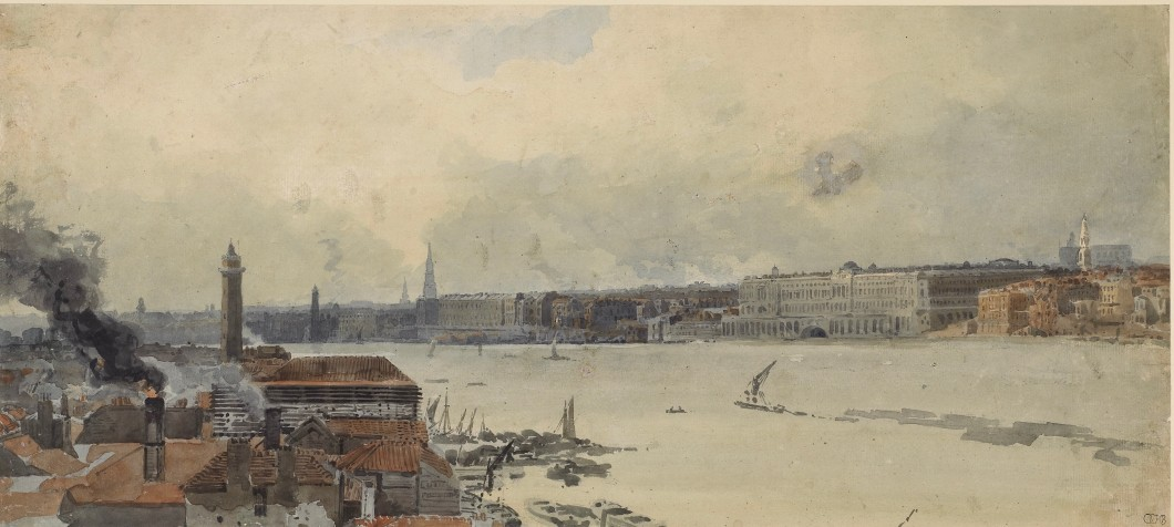 "Study for the ""Eidometropolis"" Section 4: The Thames from Westminster to Somerset House"