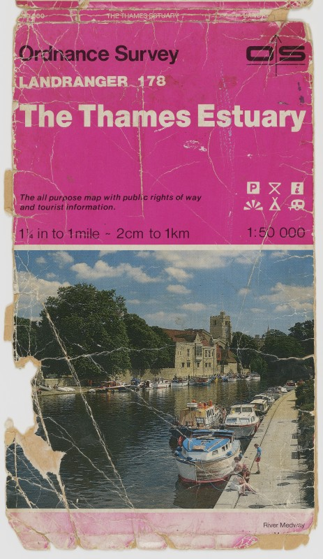 Ordnance Survey Landranger 178, The Thames Estuary map (cover)