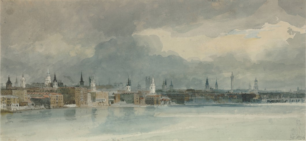 "Study for the ""Eidometropolis"" Section 7: The Thames from Queenhithe to London Bridge"