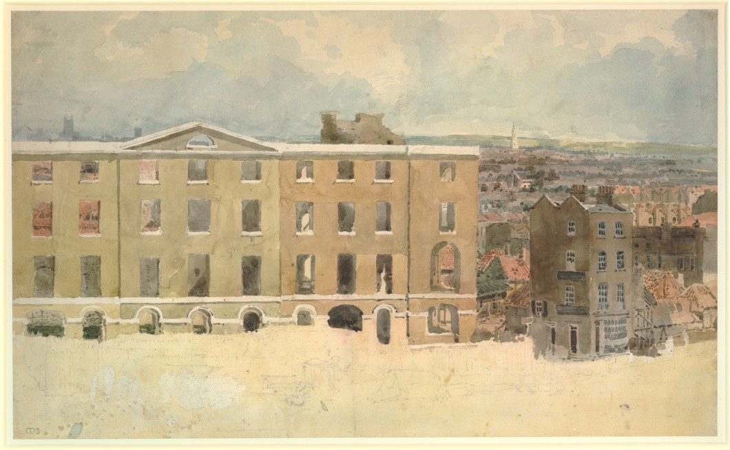 ca. 1801, graphite and watercolour on laid paper, 32.8 x 53.8 cm. Collection of The British Museum (1855,0214.24).