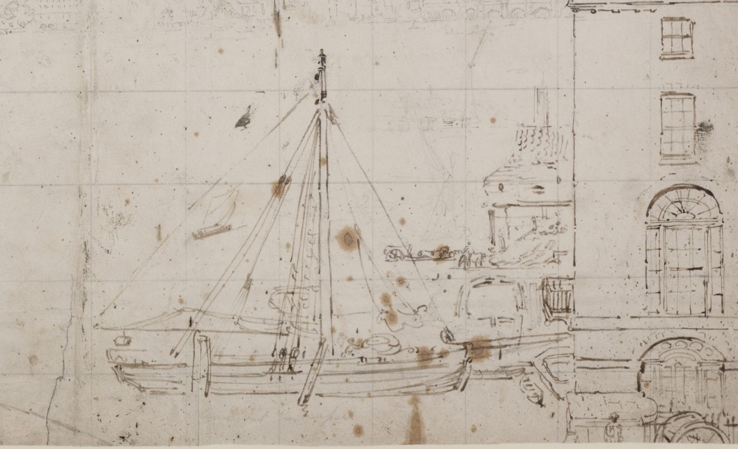 ca. 1801, graphite and pen and ink on wove paper, 32 x 51 cm. Collection of The London Metropolitan Archives (q8972599)