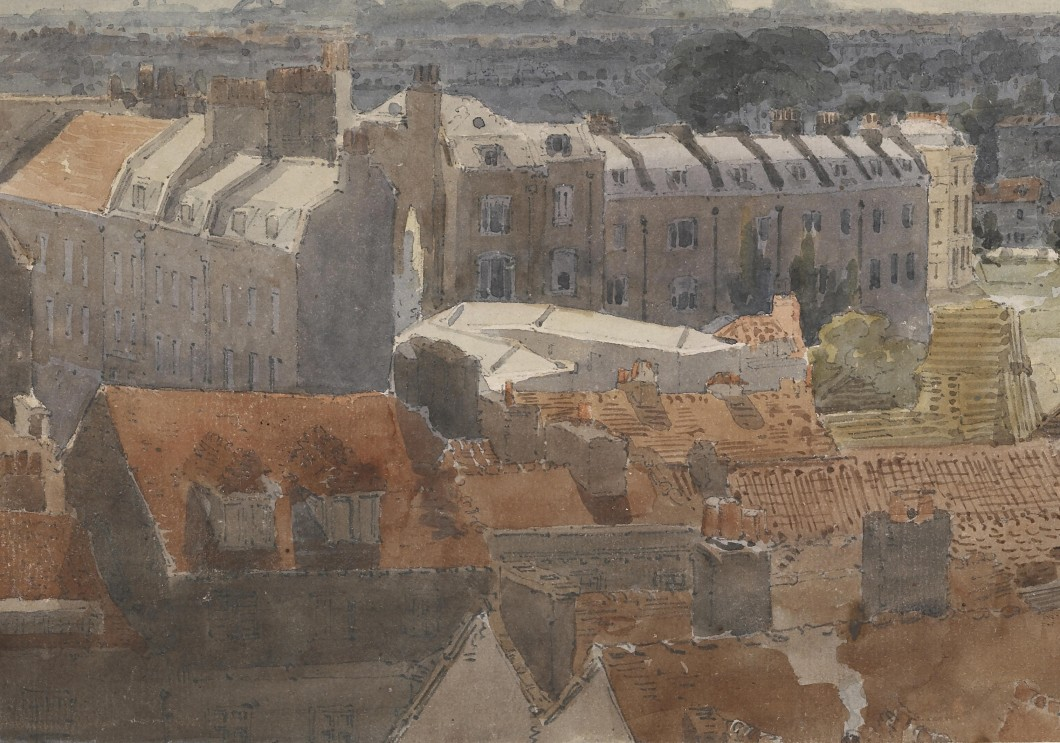 "Study for the ""Eidometropolis"" Section 3: Westminster and Lambeth (detail)"