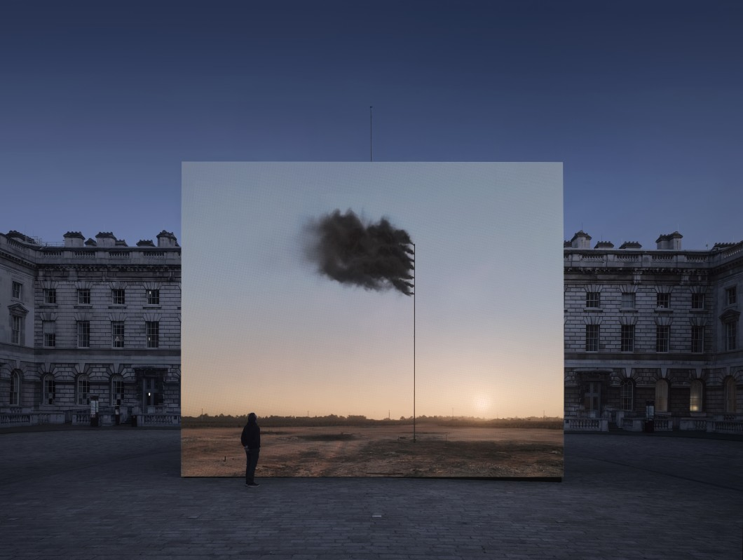 2017, film, dimensions variable. Installed in the courtyard of Somerset House, London.