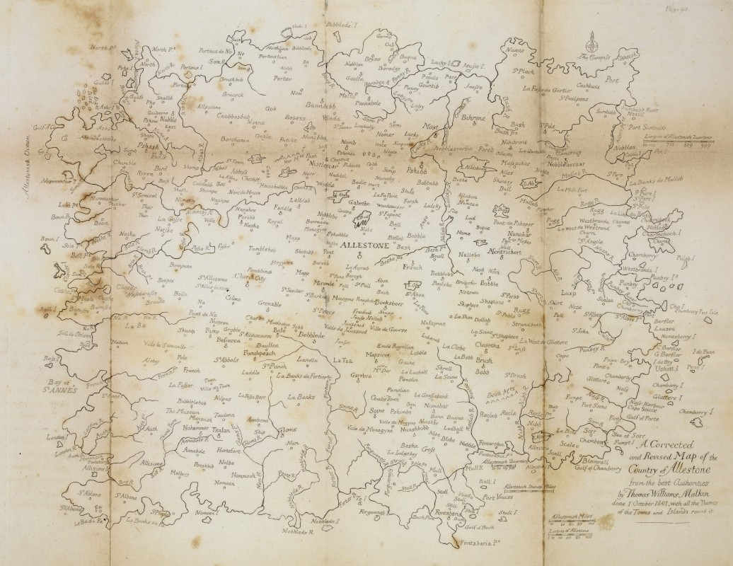 1806, map. Collection of University of Cambridge Library (Keynes.U.4.10).