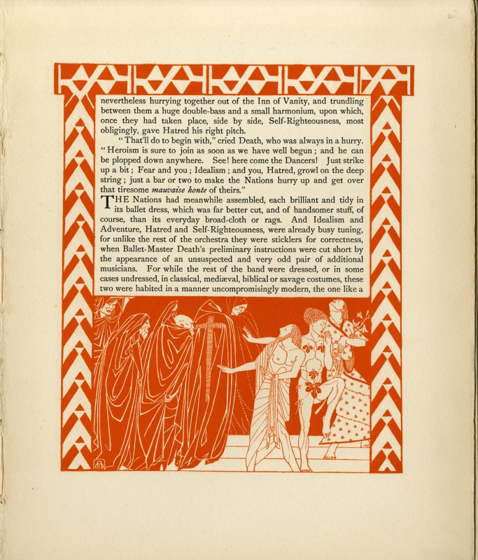 with a Pictorial Commentary by Maxwell Ashby Armfield (London: Chatto & Windus, 1915), unpaginated. Illustration design by Maxwell Ashby Armfield.