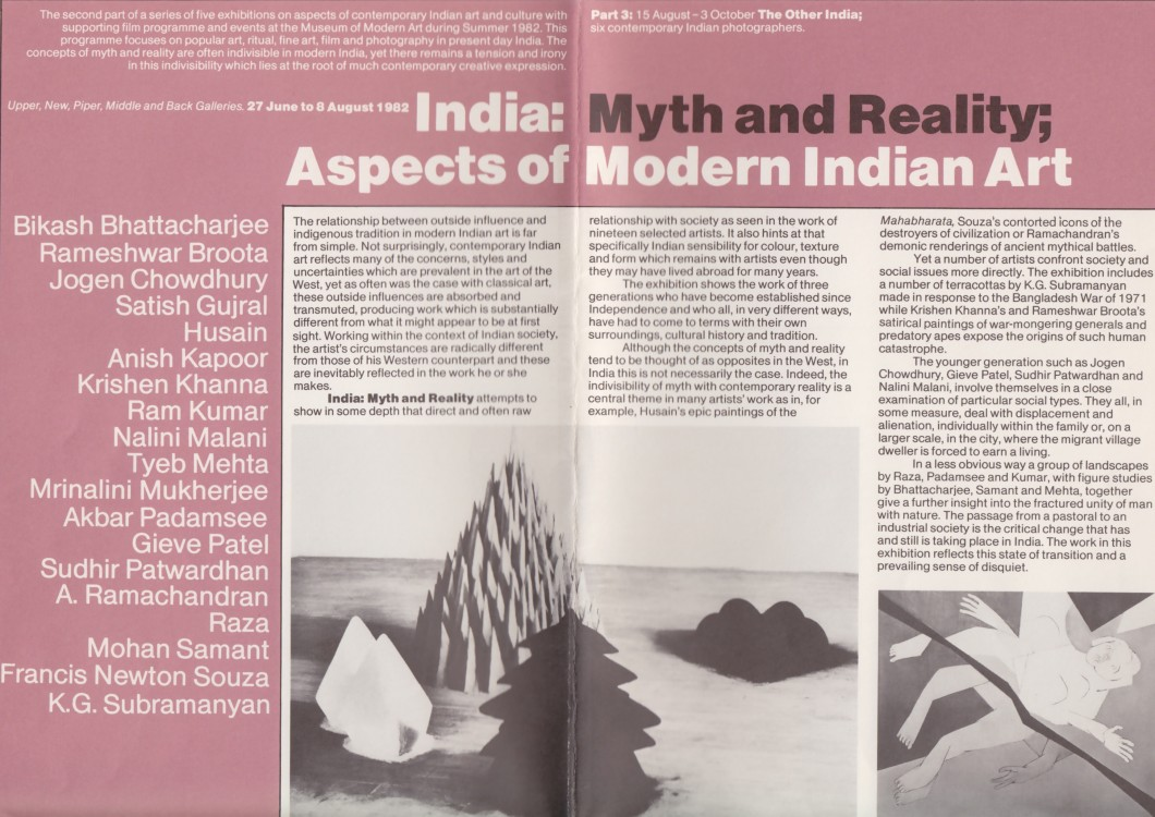 India Myth and Reality: Aspects of Modern Indian Art