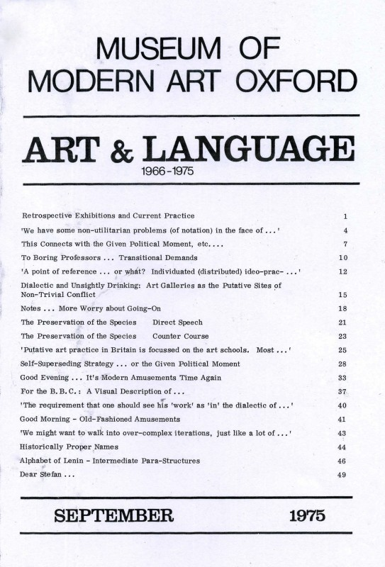 Art & Language, 1966–1975