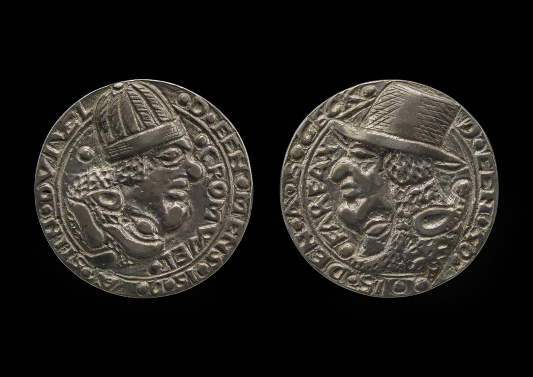 1650, silver medal, diameter: 3.2 cm. Collection of British Museum (1879,1107.1).