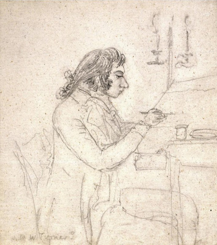 J.M.W. Turner at a Drawing Table