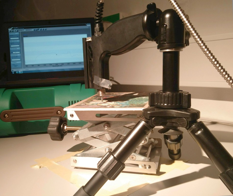 FORS analysis setup in the laboratory at the Centre for Art Technological Studies (CATS)
