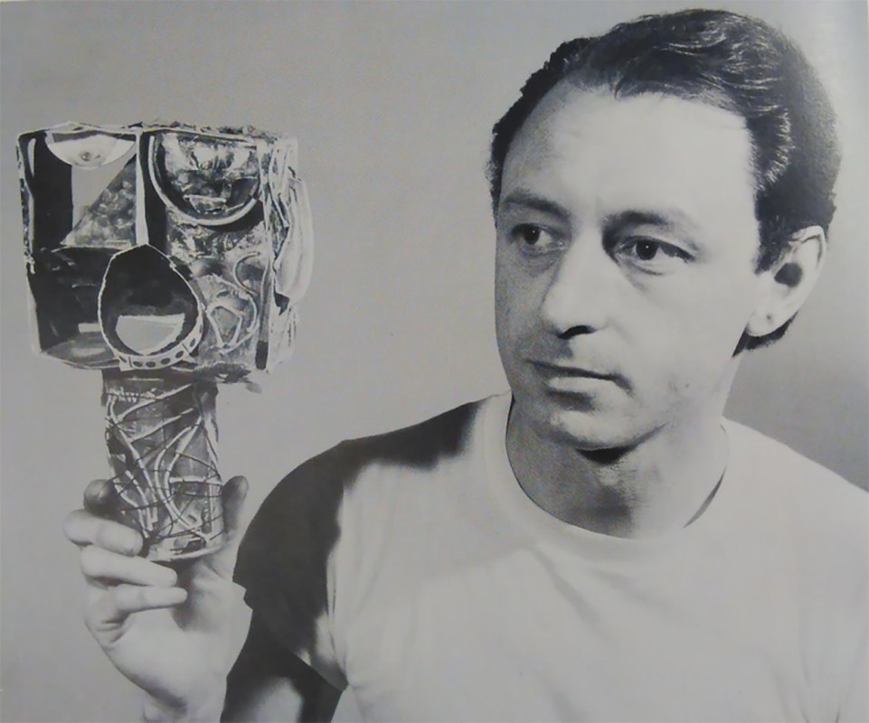John McHale with Self Portrait (1955)