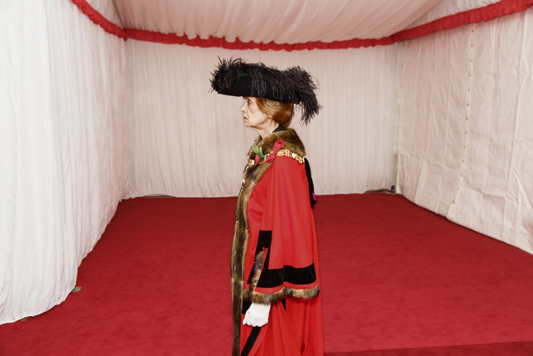Installation of New Lord Mayor, Fiona Woolf, Silent Ceremony, Guildhall, City of London, England, UK