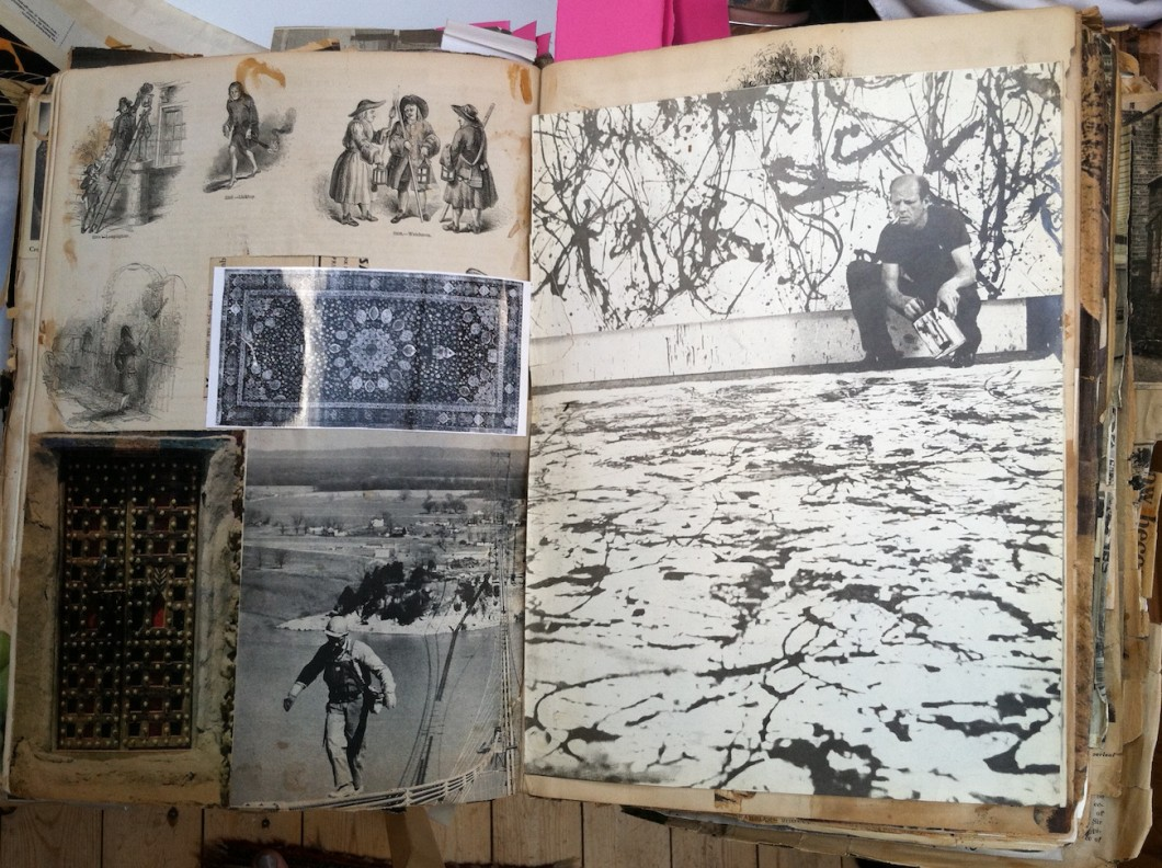 Alison Smithson's Scrapbook including photograph by Hans Namuth of Jackson Pollock