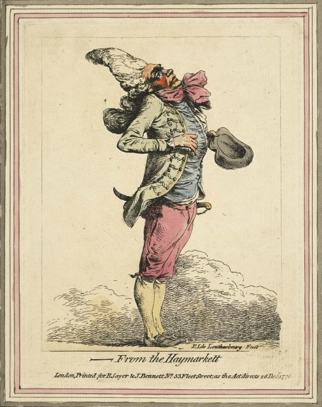 1776, hand-coloured etching, 15.7 x 11.9 cm. Collection of the British Museum (1873,0712.825)