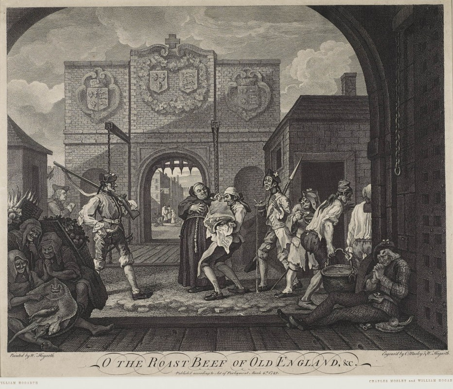 "O The Roast Beef of Old England, &c. (""Calais Gate"")"