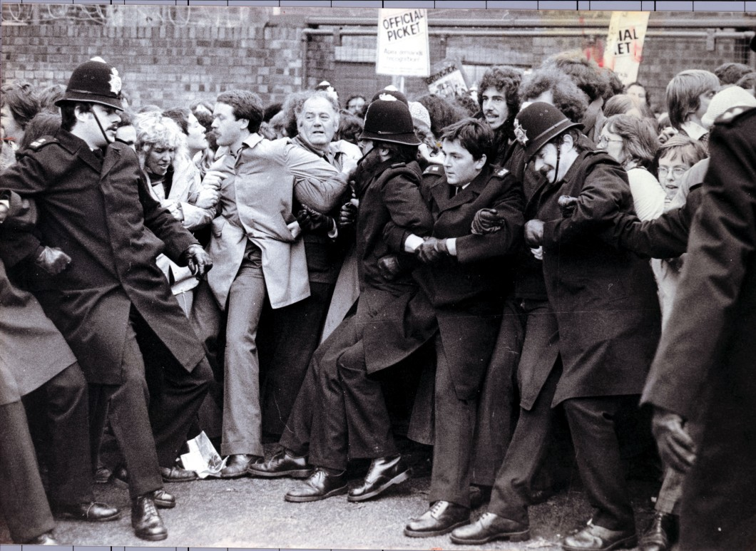 Violence Outside The Grunwick Processing Company In London During Strike