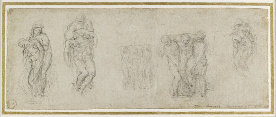 Row of Figures for the Deposition of Christ (Studies for a Pietà and an Entombment)