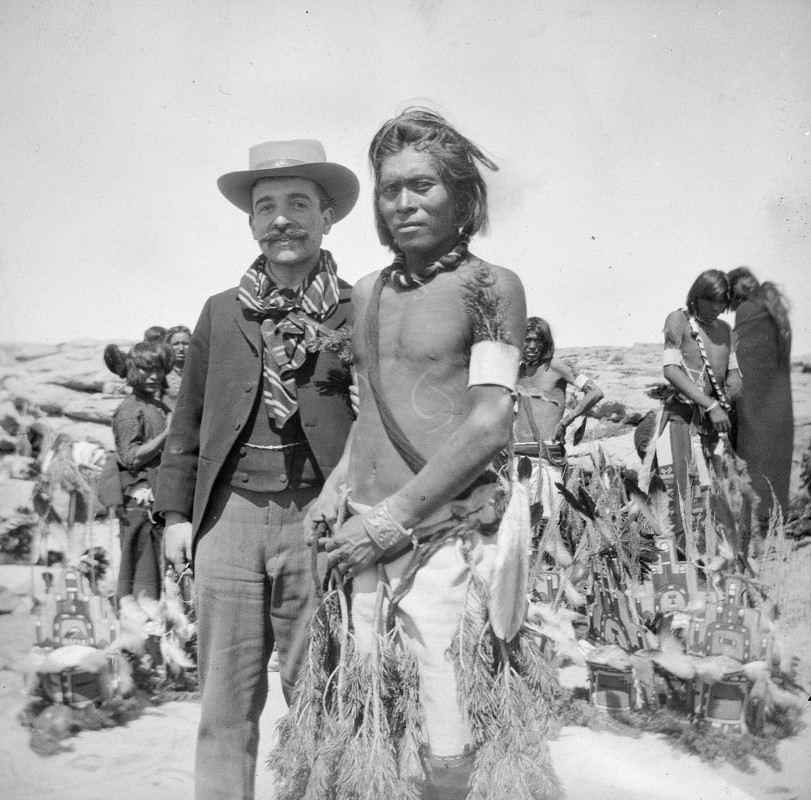 Aby Warburg and a Hopi Indian, Oraibi