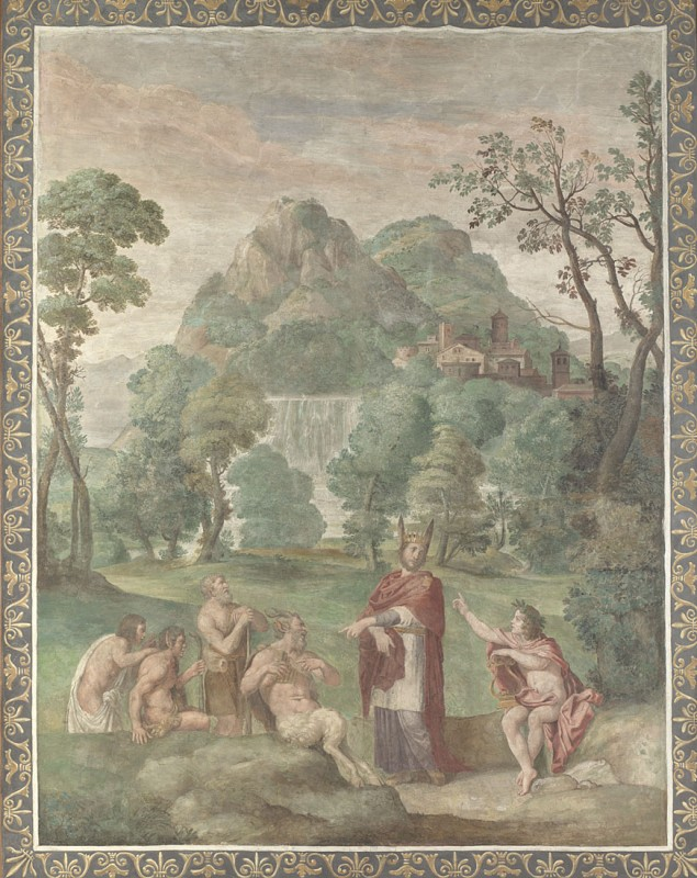 1616-18, fresco, transferred to canvas and mounted on board, 267 x 224 cm. Collection of The National Gallery, London