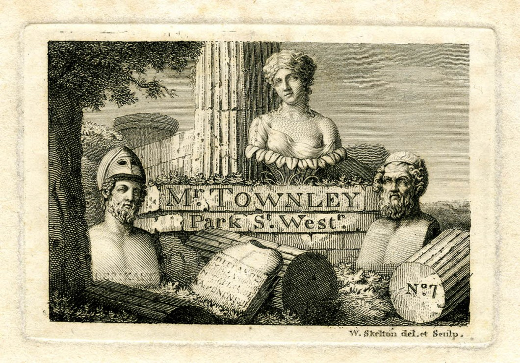 Charles Townley's visiting card