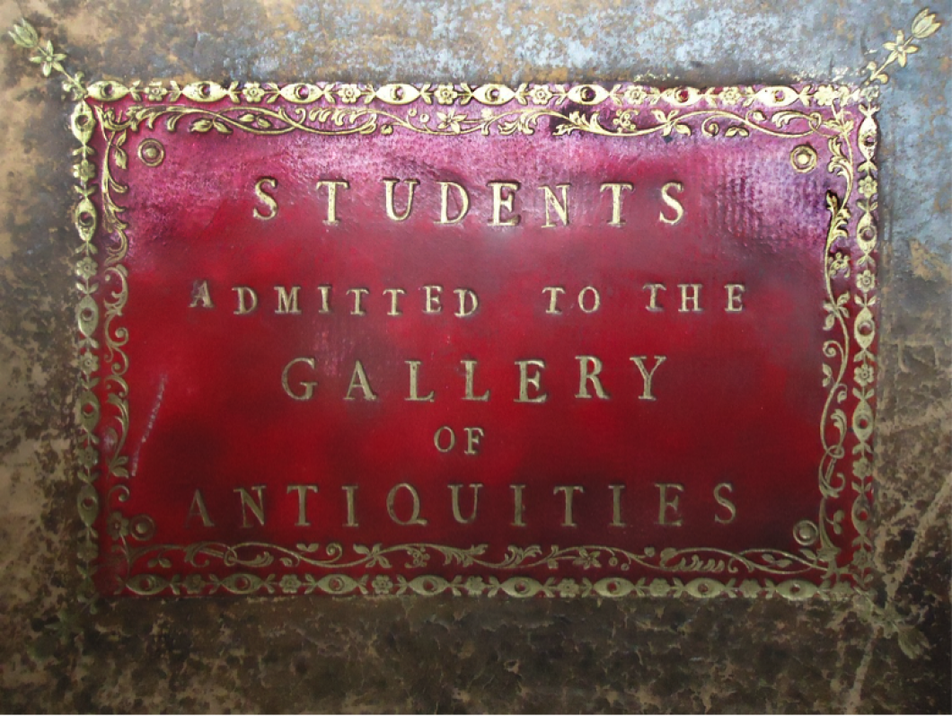 Register of Students Admitted to the Gallery of Antiquities