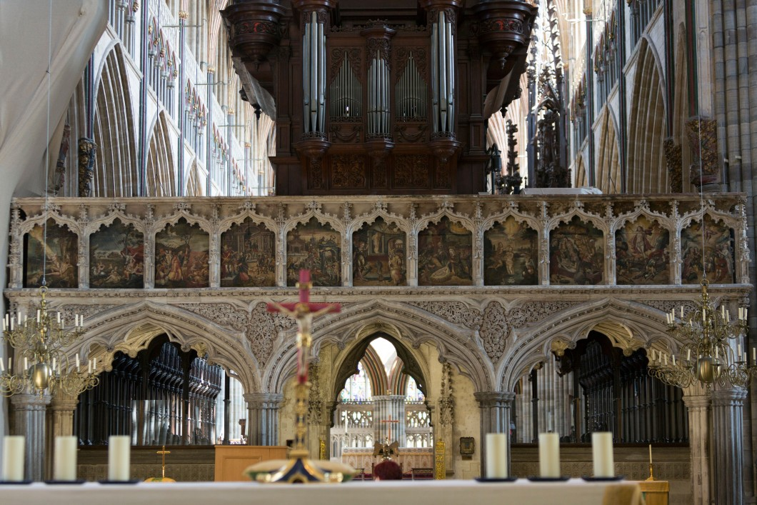 Exeter Cathedral Choir Screen