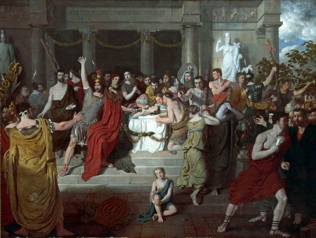 Brutus Exhorting the Romans to Revenge the Death of Lucretia