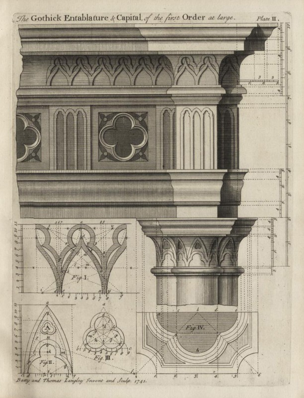 from <i>Ancient Architecture Restored and Improved</i> by Batty Langley and Thomas Langley (London, 1742).