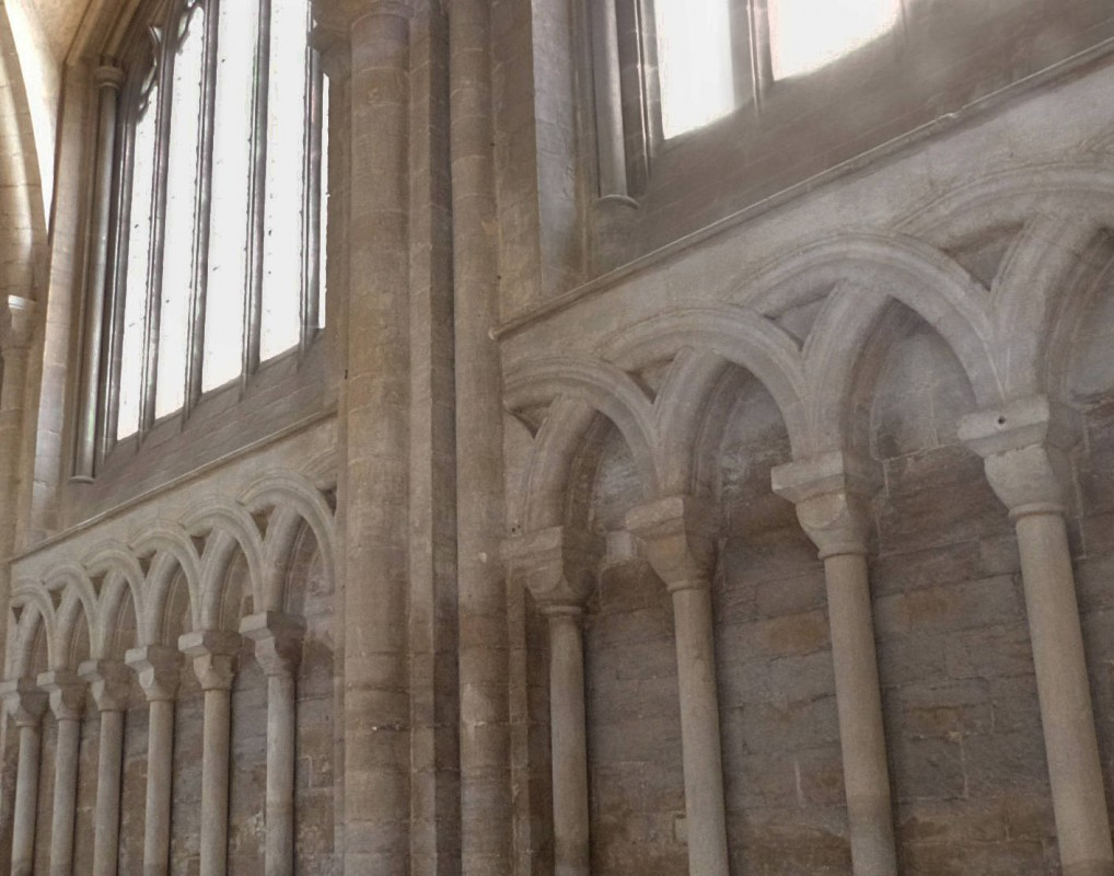 Peterborough Cathedral, begun ca. 1118.