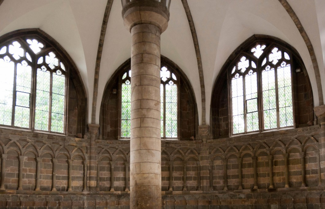 Interior of the chapter house
