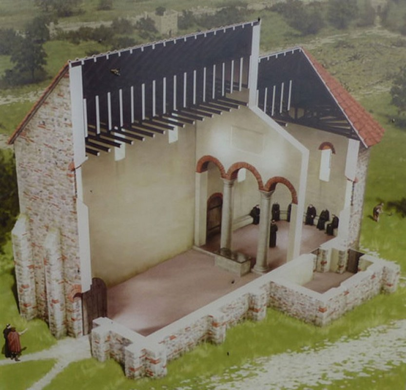 Reconstruction of the Anglo-Saxon Minster of Reculver