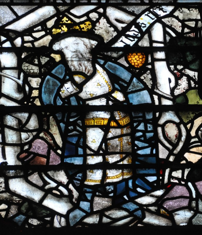 <i>Tree of Jesse, fragment of the stained glass from the original west window of New College Chapel, Oxford</i>, ca. 1385.