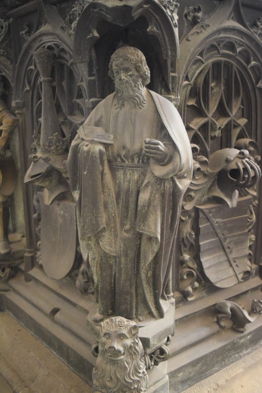 brass, Tomb of Archbishop Ernst of Saxony, ca. 1495, Magdeburg Cathedral, Magdeburg, Germany.