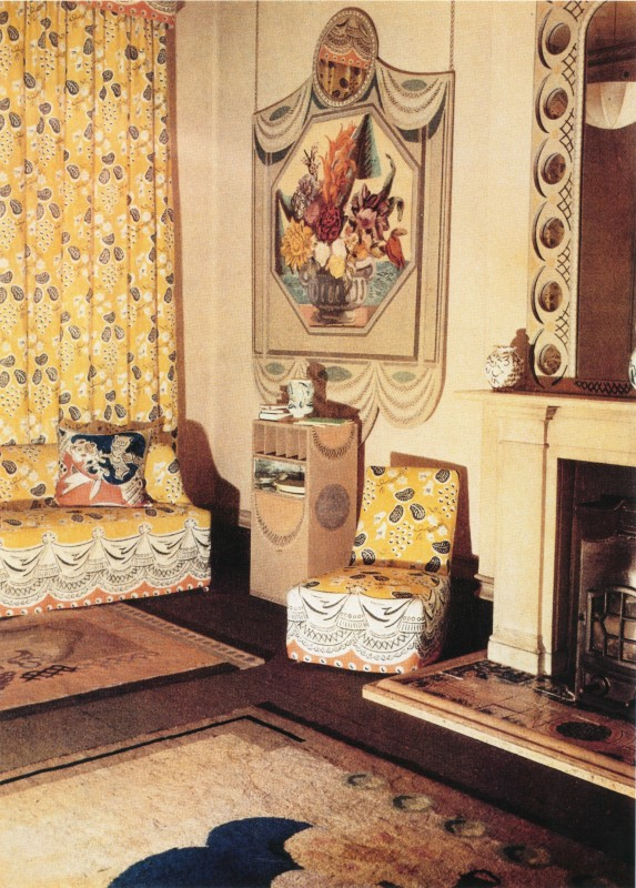photograph of Lefevre galleries Music Room interior design with Grapes fabric