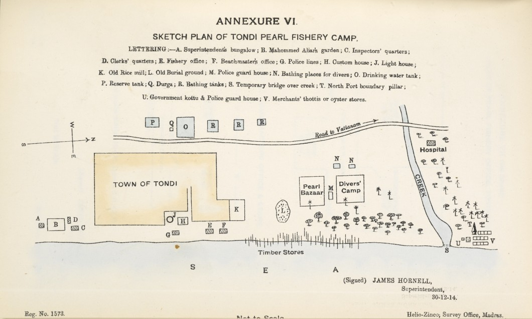 Sketch Plan of Tondi Pearl Fishery Camp