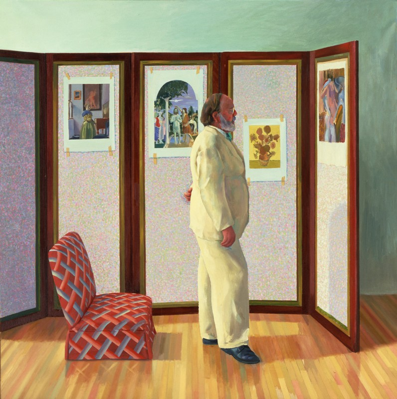 1977, Oil on canvas, 183 x 183 cm. Private collection.